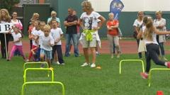 Children Take Part in a Children's Tournament Stock Footage
