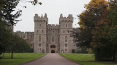 Windsor Castle Entrance Stock Footage