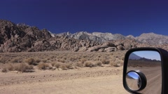 Driving on the dirt roads of Alabama Hills, Calif., back country Stock Footage