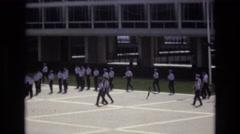 1968: military marching demonstration. COLORADO SPRINGS COLORADO Stock Footage