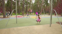 Beautiful little girl in park Jurmala, Latvia Stock Footage