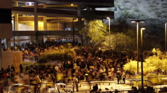 Time-lapse of a crowd leaving a stadium football game, time-lapse. Stock Footage