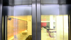 Elevator doors opening and closing. Stock Footage
