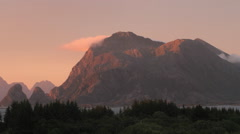 Tme-lapse landscape of the sunset from Donna island, Norway, Nordland County, He Stock Footage