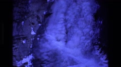 1969: a waterfall is frozen stuck to a cliff side COLORADO Stock Footage