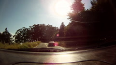 POV of the view looking through a car window. Stock Footage