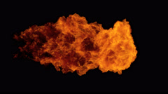 High Speed Fire ball explosion from left to right, slow motion fire flamethrower Arkistovideo