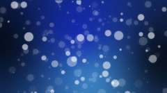 Dark blue holiday background with bokeh lights Stock Footage