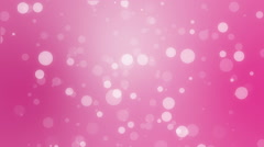 Romantic pink holiday background with bokeh lights Stock Footage