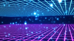 HD Loopable Background with nice abstract retro style Stock Footage
