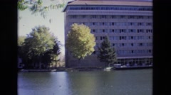 1967: sighting of a hotel by the lake. COLORADO SPRINGS BROADMOR Stock Footage