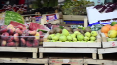 Farmers Market in Rome, Italy, Europe Stock Footage