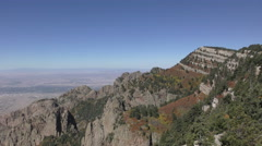 Sandia mountains looking down Stock Footage