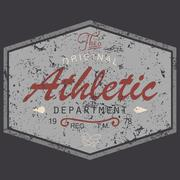 T-shirt Printing design, vintage style grunge textured, typography graphics,  Stock Illustration