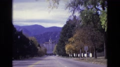 1967: a line of trees with green leaves in a row COLORADO SPRINGS BROADMOR Stock Footage