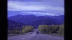 1967: driving into the mountains. COLORADO SPRINGS BROADMOR Stock Footage