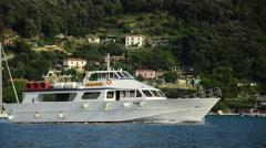A yacht near Porto Venere, Liguria, Italy Stock Footage