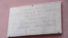 Sign in Porto Venere, Liguria, Italy Stock Footage
