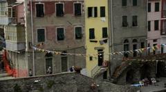 Riomaggiore in the Cinque Terre region of Liguria, Italy Stock Footage