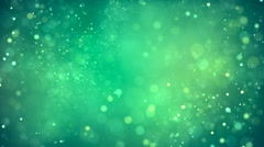 HD Loopable Background with nice abstract green light and particles Stock Footage