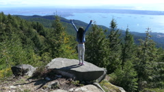 Gorgeous View Of Vancouver From Cypress Mountain Look Out Stock Footage