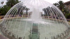 Place du Casino park and fountains in Monte Carlo, Monaco, Europe. Stock Footage