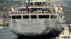 Wind Surf Cruise Ship in Monte Carlo, Monaco, Europe. Stock Footage