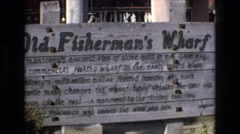 1965: sign outside of a building with letters CENTRAL COAST CALIFORNIA Stock Footage