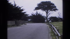 1965: lonely highway inside nature. CENTRAL COAST CALIFORNIA Stock Footage