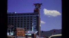 1966: busy hotel in las vegas LAKE TAHOE NEVADA Stock Footage
