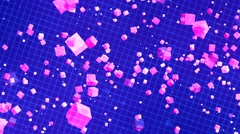 HD Loopable Background with nice matrix purple cubes Stock Footage