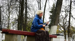 Woman Playing The Balalaika Stock Footage