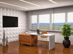 Modern office interior. 3d illustration Piirros