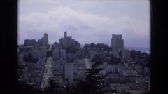 1968: hilly area city built magnificent engineering SAN FRANCISCO CALIFORNIA Stock Footage