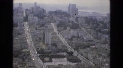 1968: beautiful city landscape with buildings and streets SAN FRANCISCO Stock Footage