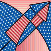 Bright abstract 4th of July cracker in vector format. Stock Illustration