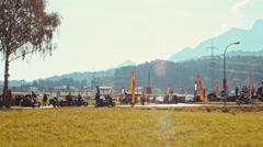 Gathering of motorcycles at the European Bike Week 2016 Stock Footage