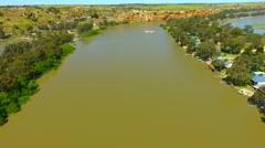 Aerial view of the river murray in south Australia, Stock Footage