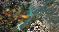 Panorama of a river canyon in France Stock Footage