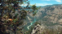 Les Gorges du Verdon Stock Footage