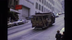 1968: the tram of the city passeio, vintage clip Stock Footage