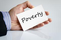 Poverty text concept Stock Photos