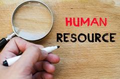 Human resource text concept Stock Photos