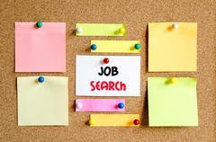Job search text concept Stock Photos