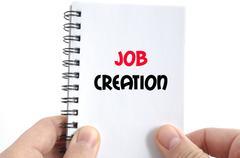 Job creation text concept Stock Photos