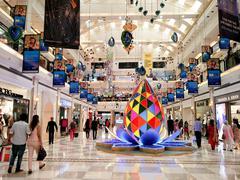 Diwali decorations at Ambience mall Delhi Stock Photos