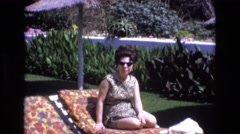1969: it's good to take time out for yourself to relax on a nice breezy day Stock Footage