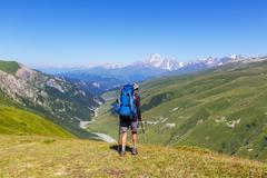 Hike in Caucasus Stock Photos