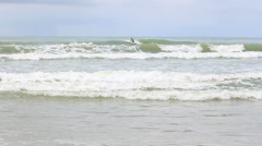 Waiting surfers - Khao Lak beach. Stock Footage