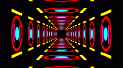 Retro colorful tunnel Stock Footage